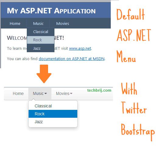 Responsive ASP NET Menu Control With Twitter Bootstrap - TechBrij