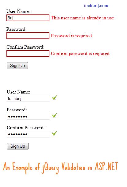 jquery validation asp.net webforms