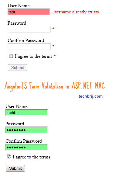 angularjs validation