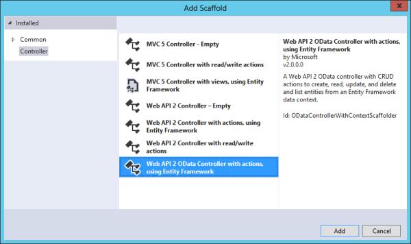 jQuery DataTables With ASP NET Web API 2 OData Service
