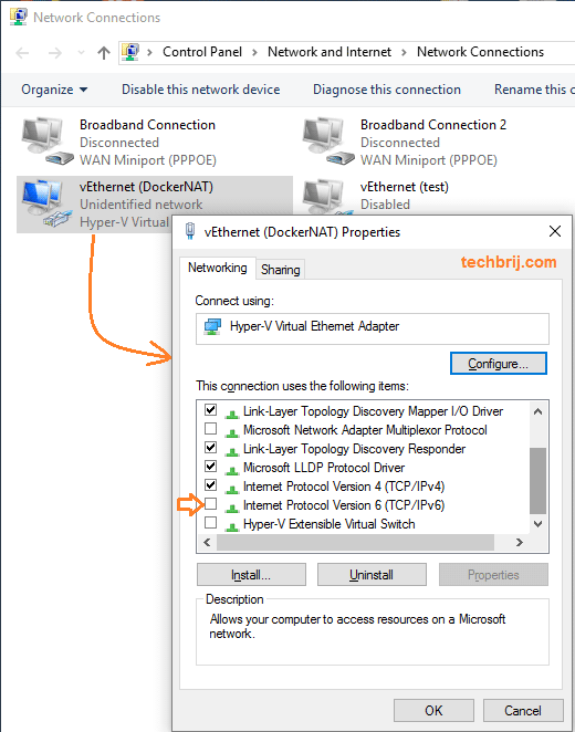 Docker Windows Network Settings