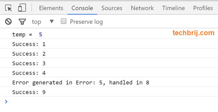 Javascript Promise error handling