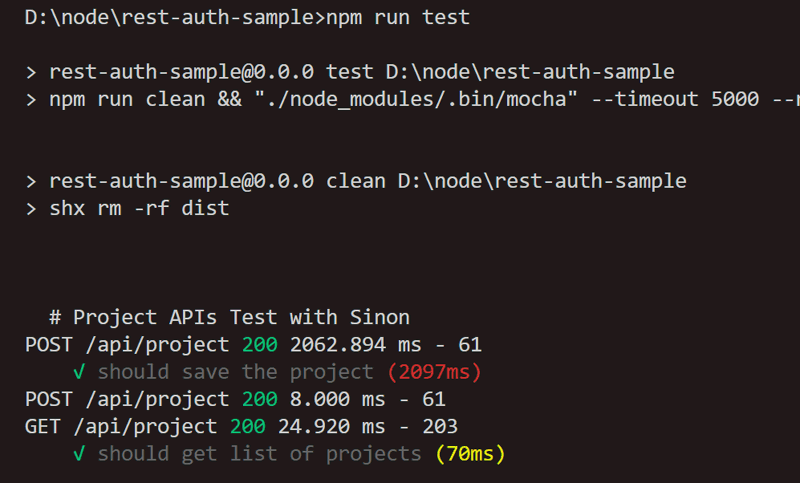 REST API TEST MOCHA