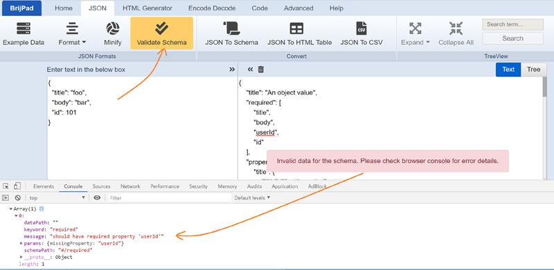 BrijPad JSON Schema Validator