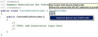 Custom Role Provider ASP.NET