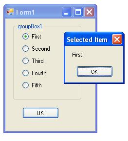 radio button c# windows app
