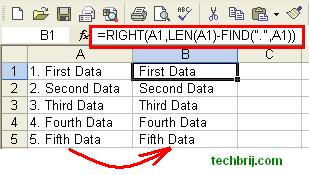 excel remove line numbers