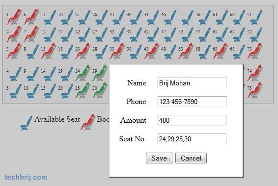 Online Ticket Booking System using ASP NET - TechBrij