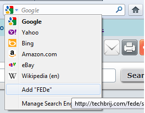 add FEDe techbrij to firefox