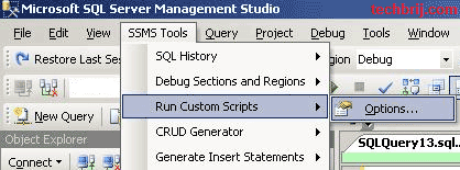 SSMS Tools Pack TechBrij 1 Run Your Custom Script Quickly with SSMS Tools Pack