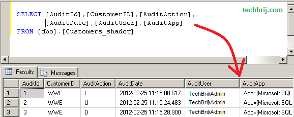 audit trail, sql server