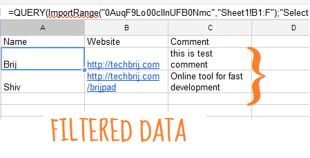 Moderate Google Docs Forms Data and Share Filtered Data Only to