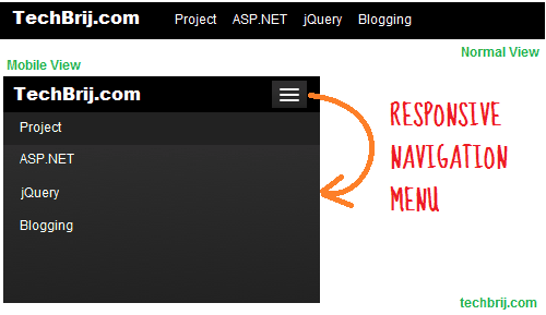responsive menu button 4 Ways to Design Responsive Navigation Menu
