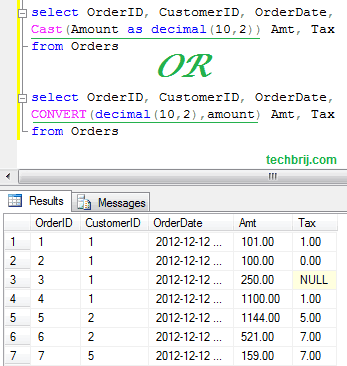SQL Query To Check Money Data Type and Convert it to Decimal