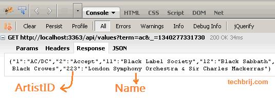 Using jQuery UI Autocomplete With ASP NET Web API - TechBrij